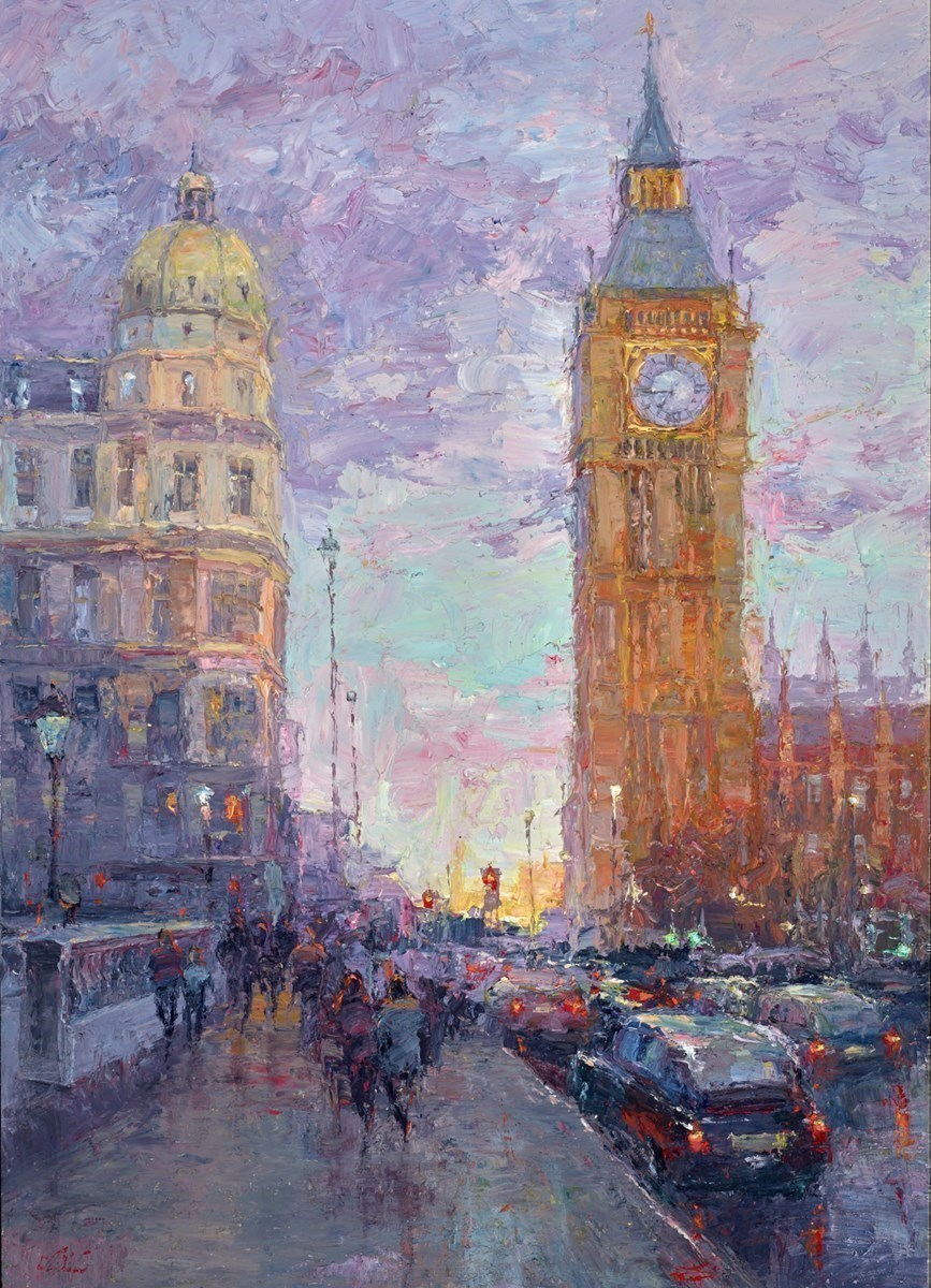 After the Rain, Westminster by Lana Okiro -  sized 20x28 inches. Available from Whitewall Galleries